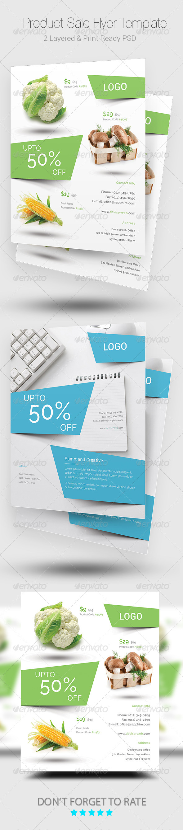 product sale flyer templates by rtralrayhan graphicriver
