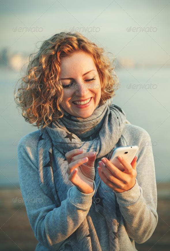 using smart phone - Stock Photo - Images
