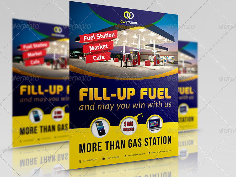 Flyers Fule Gas Station Flyer Template By Owpictures Graphicriver