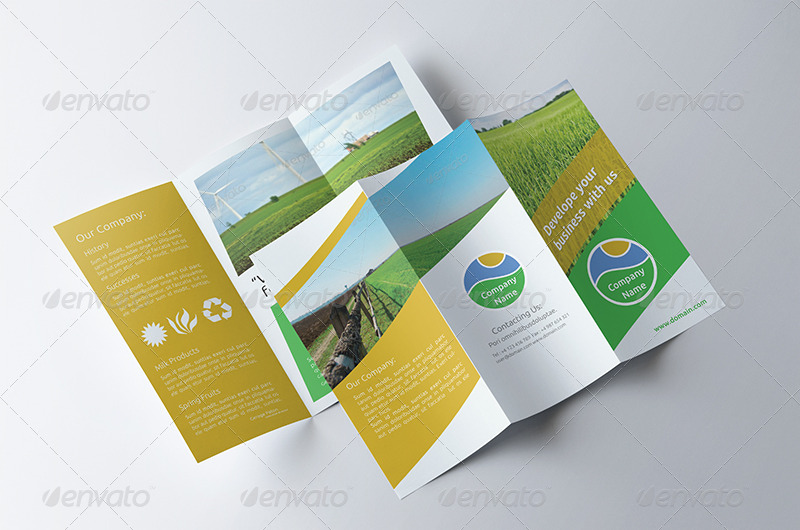 Agriculture tri fold brochure v006 by as group for Agriculture brochure templates