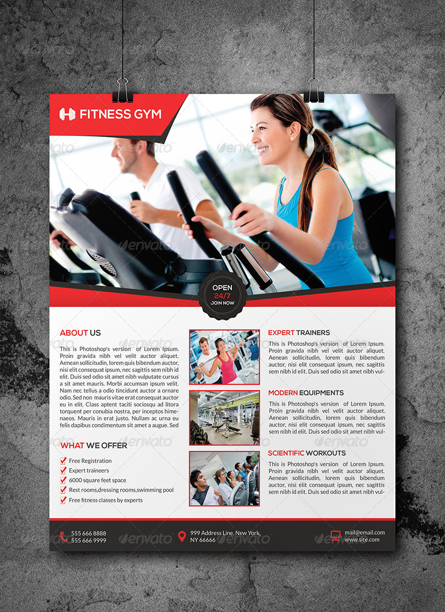 Fitness Gym Flyer Template by Elitely – Free Fitness Flyer Templates