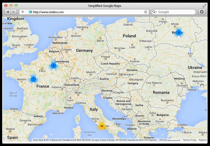 Simplified Google Maps by transylvanialabs | CodeCanyon