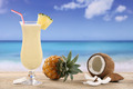Pina Colada cocktail on the beach - PhotoDune Item for Sale