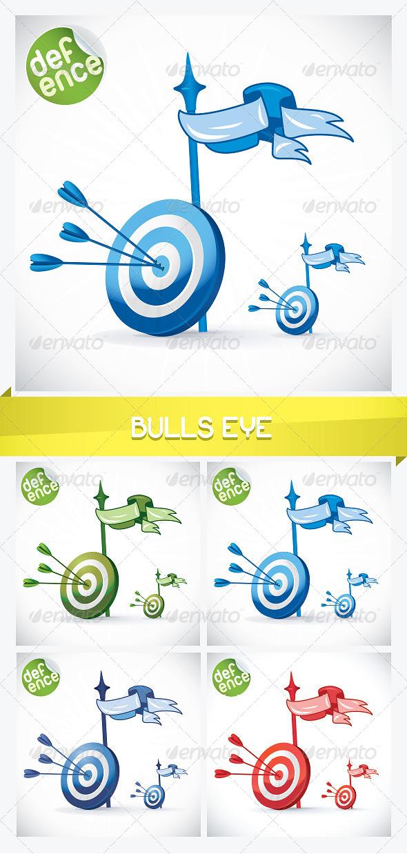 Bulls Eye Illustration - Miscellaneous Conceptual