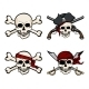Vector Set of Different Cartoon Pirate Skulls - GraphicRiver Item for Sale