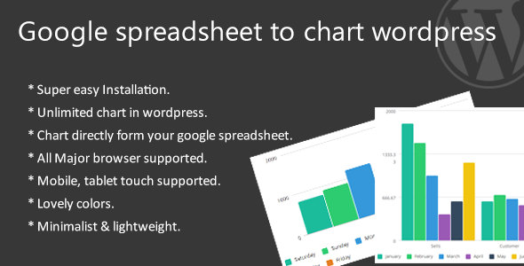 Google spreadsheet to chart wordpress - CodeCanyon Item for Sale
