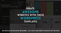 Wordpress Templates with Drag and Drop editing