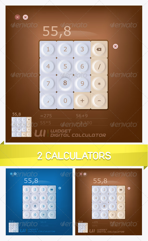 2 Calculators Illustration - Miscellaneous Conceptual