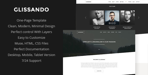 Glissando – Creative Muse Template