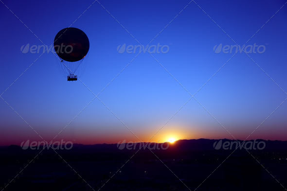 Sunrise Hot Air Balloon - Stock Photo - Images