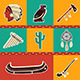 American Indian Icons Set - GraphicRiver Item for Sale