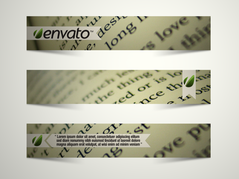 Bookmark Lower Thirds - After Effects Templates