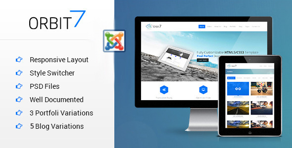 Orbit7 - Multipurpose Responsive Joomla Template - Corporate Joomla