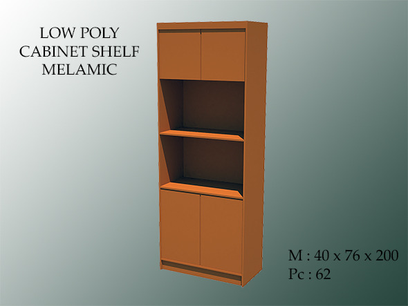 Low Poly Cabinet Shelf Melamic - 3DOcean Item for Sale