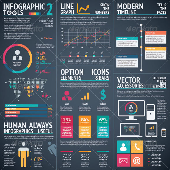 Infographic Vector Tools 2 Black