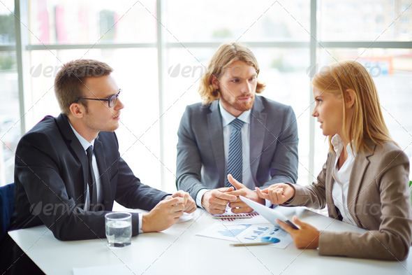 Presenting data - Stock Photo - Images