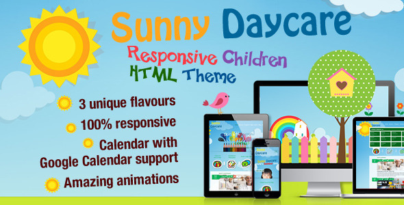 Daycare - Responsive Kindergarden HTML Template - Children Retail