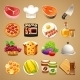 Food and Kitchen Accessories Icons Set1.1 - GraphicRiver Item for Sale