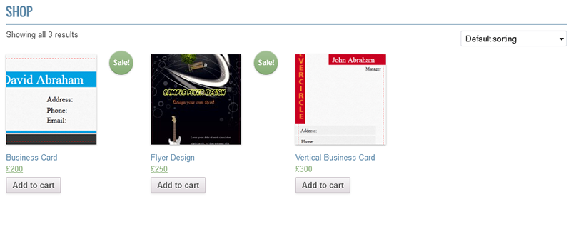 woocommerce business card flyer design by wpproducts codecanyon