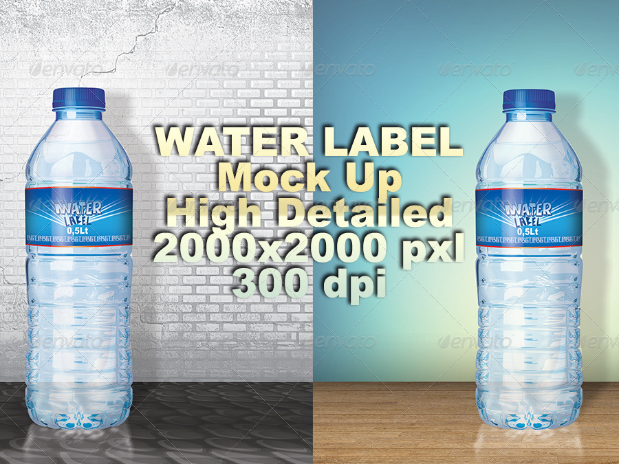 Water Bottle Label Template By Retroble  Graphicriver