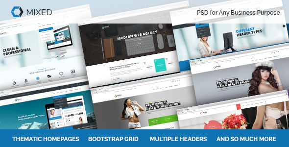 Mixed PSD for Any Business - Business Corporate