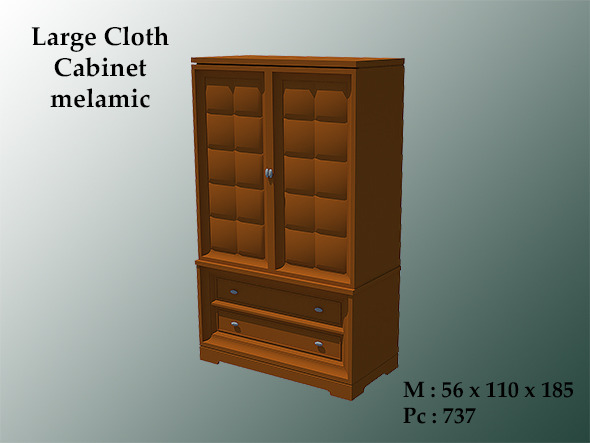 Large Cloth Cabinet Melamic - 3DOcean Item for Sale