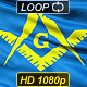The Masonic Flag Of Freemasonry - VideoHive Item for Sale