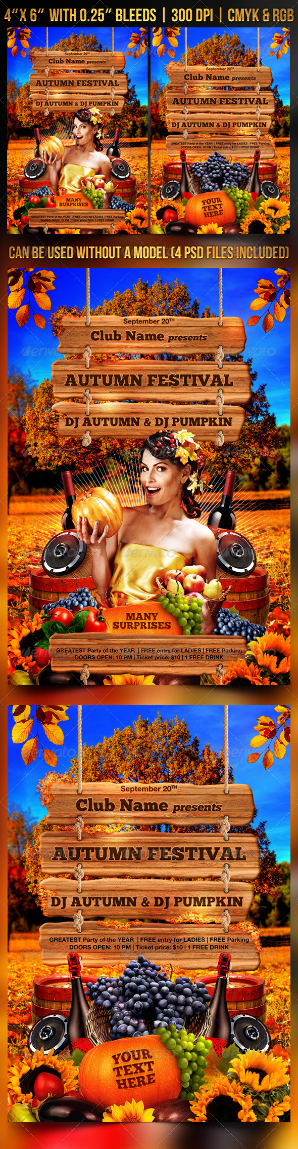 Autumn Festival Flyer Template - Clubs & Parties Events