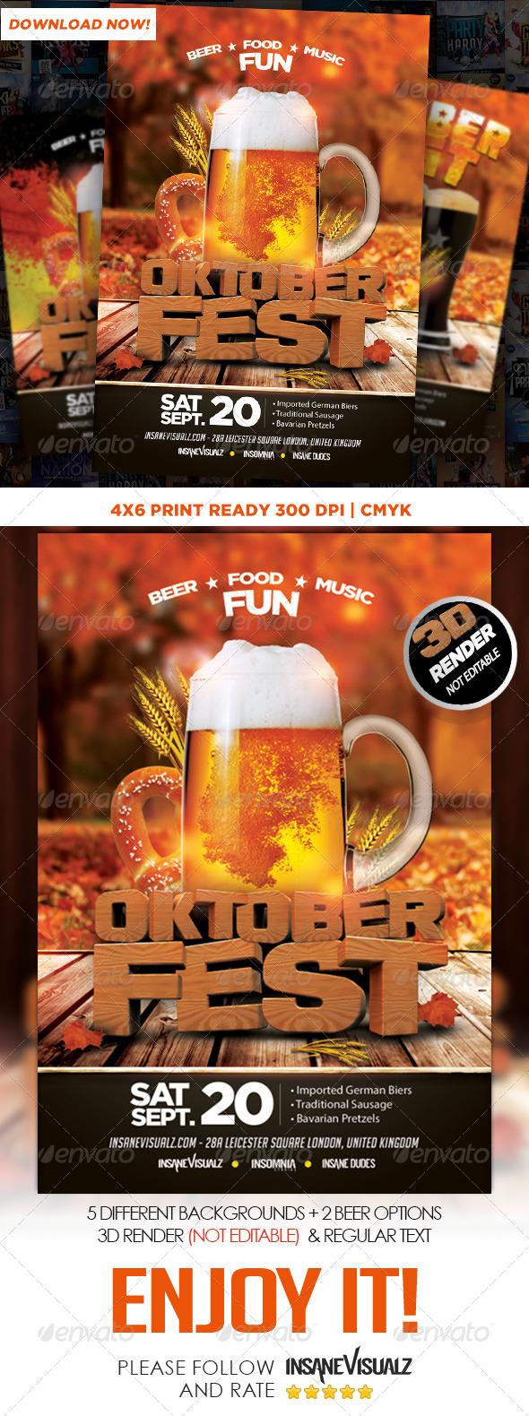 Oktoberfest Flyer Template By Dopedownloads Graphicriver