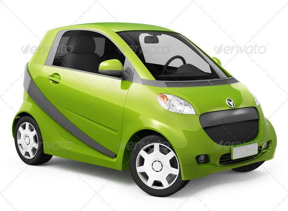 Hybrid car - Stock Photo - Images