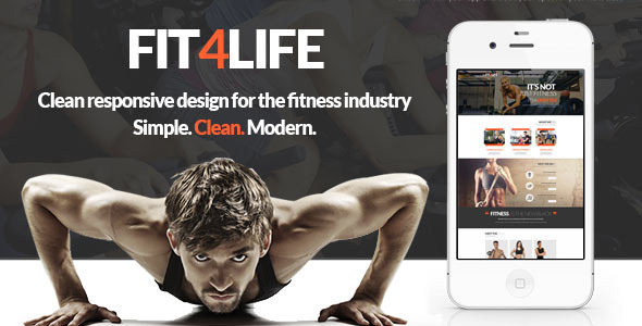Fit4Life - Gym & Fitness PSD Template - Health & Beauty Retail