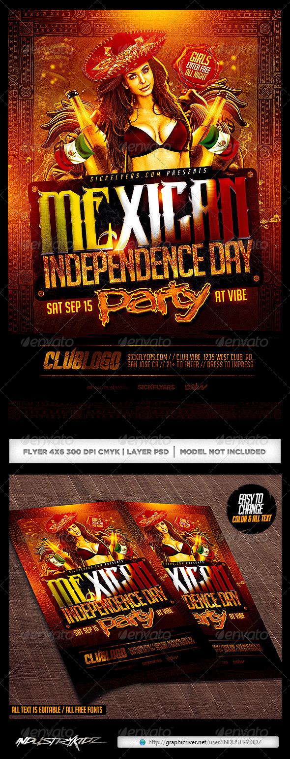 mexican independence day flyer by industrykidz graphicriver mexican flyers mexican fiesta flyer psd template - Mexico Brochure Template