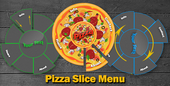 Pizza Slice Menu - CodeCanyon Item for Sale
