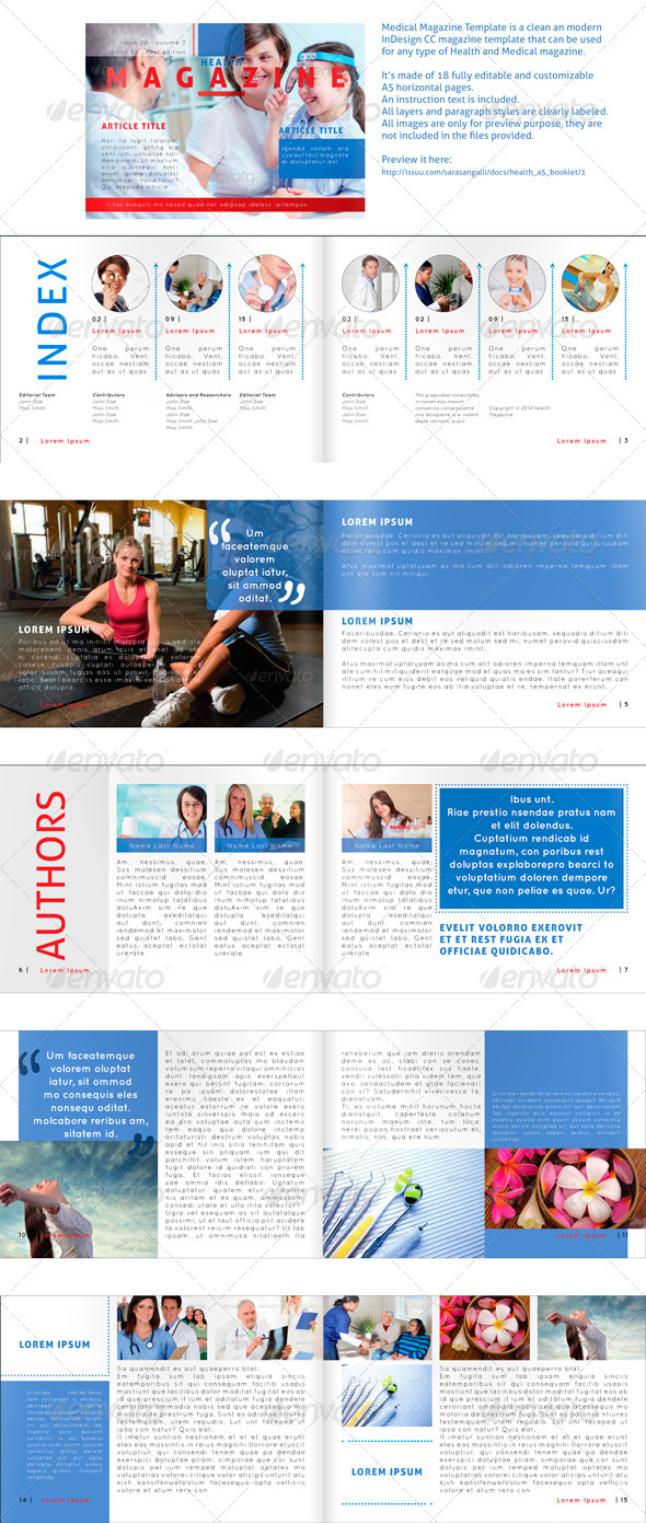 Medical Magazine - Horizontal A5 Template - Magazines Print Templates