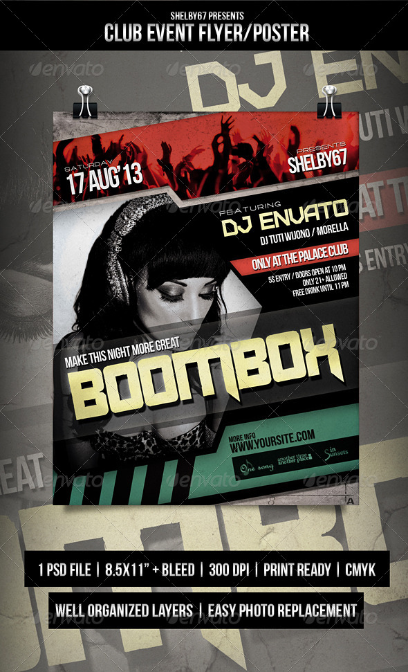 Club Event Flyer / Poster - Events Flyers