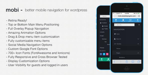 mobi | Mobile First WordPress Responsive Navigation Menu Plugin by ...