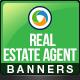 Banner Design Set for Real Estate Agents - GraphicRiver Item for Sale