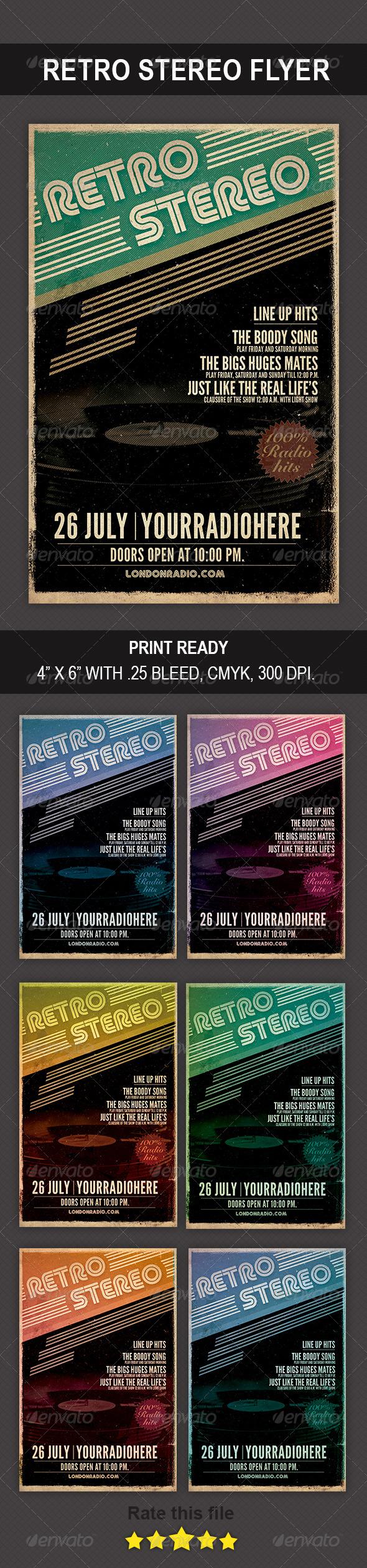 Retro Stereo Flyer