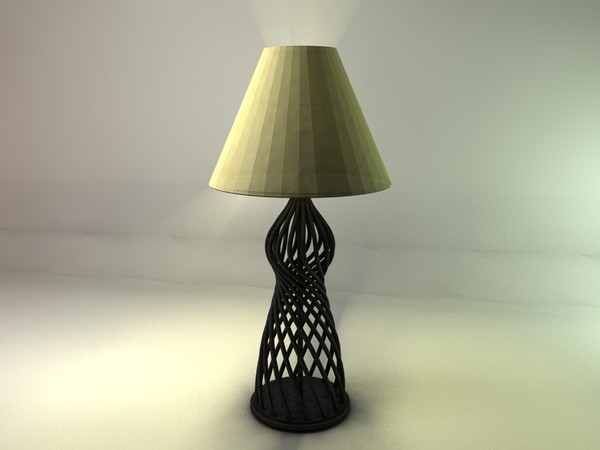 Realistic Detailed Table Lamp - 3DOcean Item for Sale