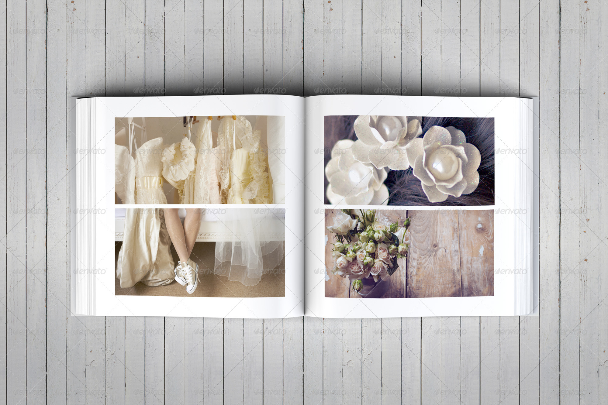 Elegant Square Wedding Photo Album Template by DogmaDesign ...
