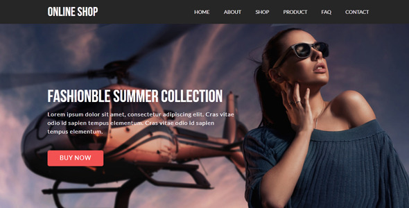 Online Shop – eCommerce Muse Template