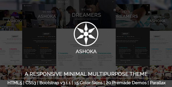 Ashoka - Responsive Minimal Multipurpose HTML Theme - Corporate Site Templates