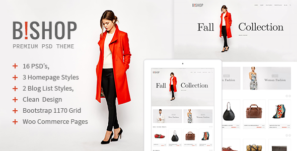 B!shop – E-Commerce and Blog PSD Theme