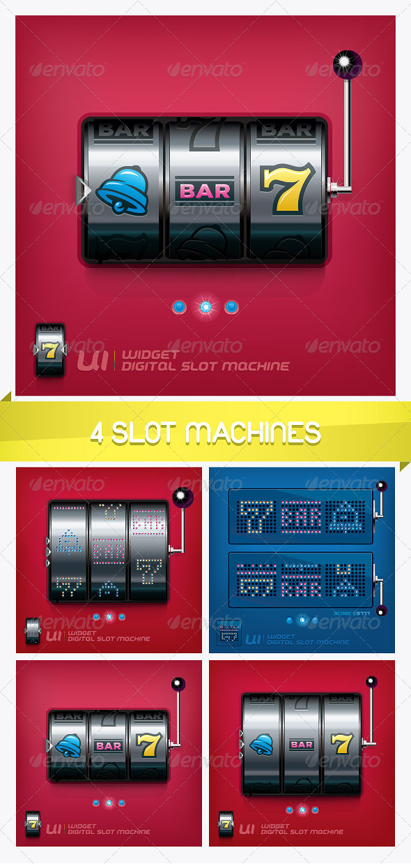 4 Slot Machines  - Miscellaneous Conceptual