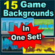 Game Backgrounds in one Set - GraphicRiver Item for Sale