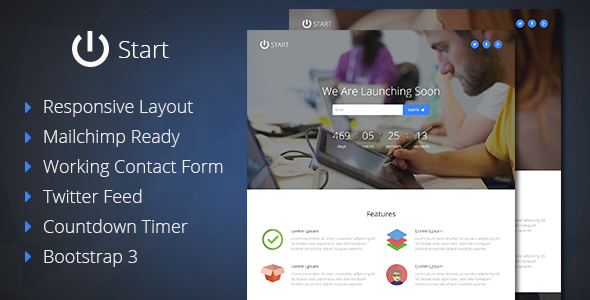 Start – Coming Soon Responsive Template