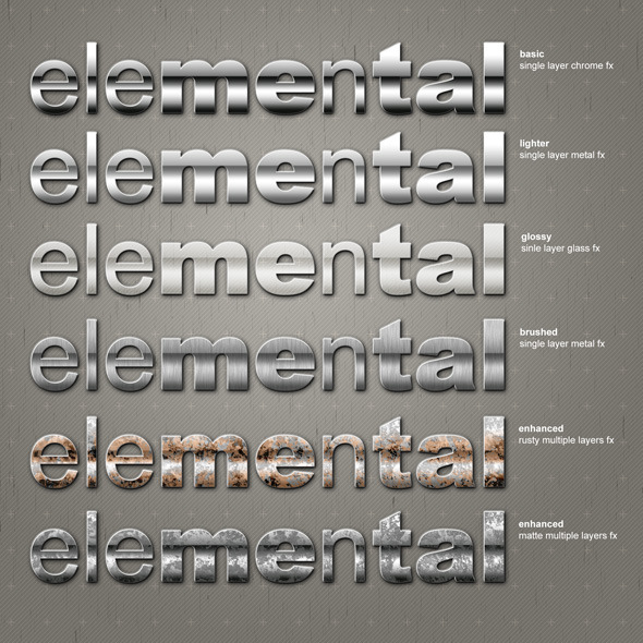 EleMEnTAL - professional styling package - Text Effects Styles