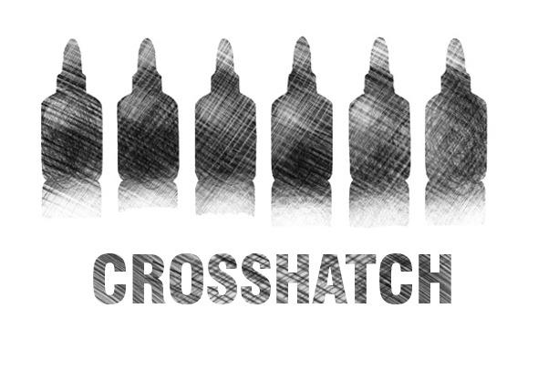 crosshatch brush set - pencil - Artistic Brushes