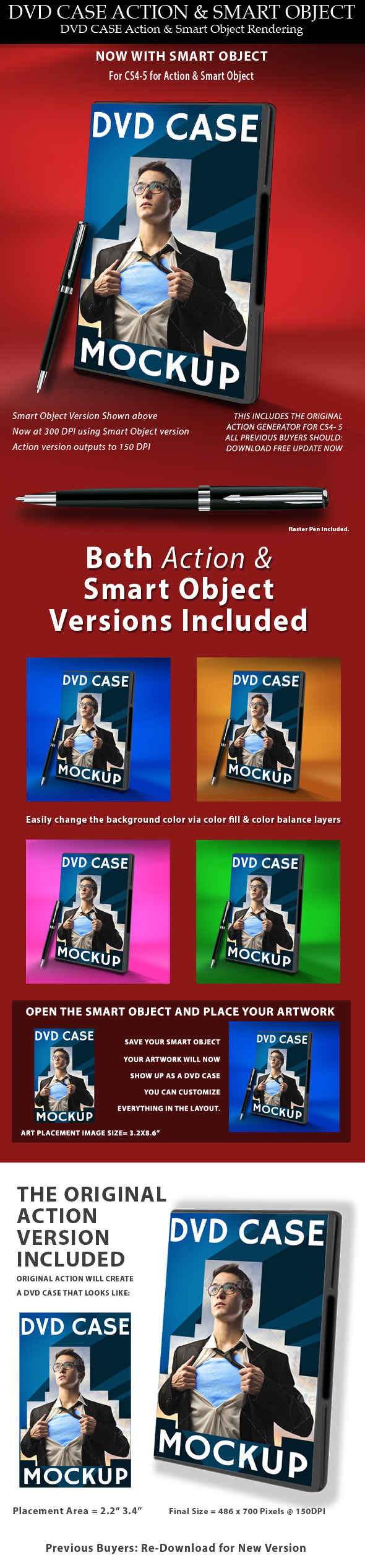 DVD Case Action & Smart Object - Utilities Actions