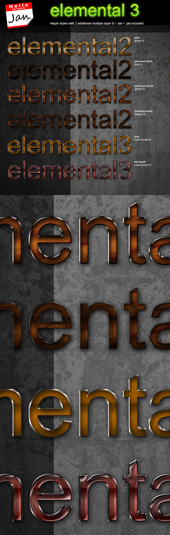 elemental 3 - professional styling package - Text Effects Styles